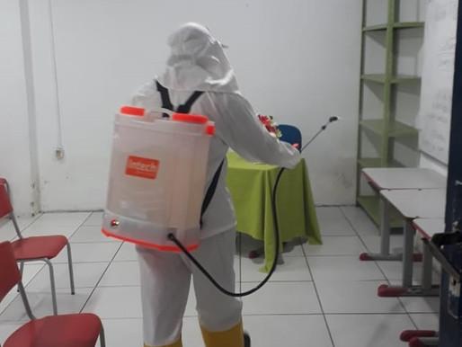 Escolas de Piripiri passam por sanitização