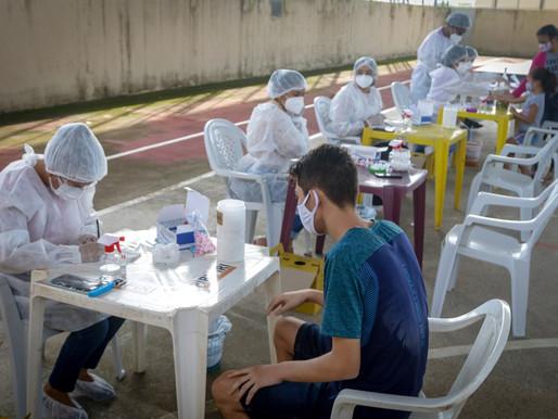 Prefeitura de Piripiri faz novo teste em massa de 350 pessoas para rastrear o novo coronavírus