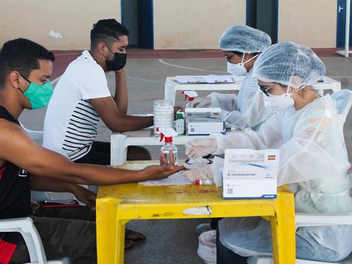 Quadrilheiros que participarão da Piripiri Junina fazem testagem pela SESAM