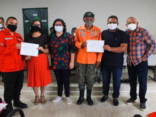 SEMAD e SENAR entregam certificados para brigadistas, bombeiros civis e panificadores