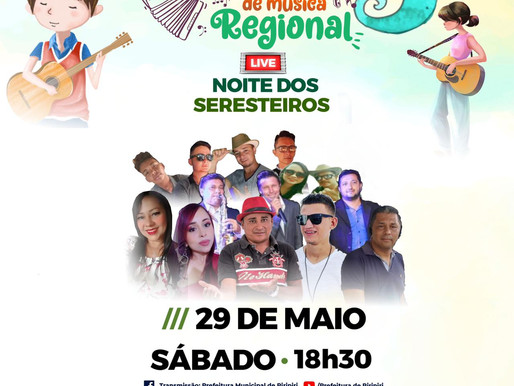 Quarta live do Festival Regional de Piripiri homenageia seresteiros