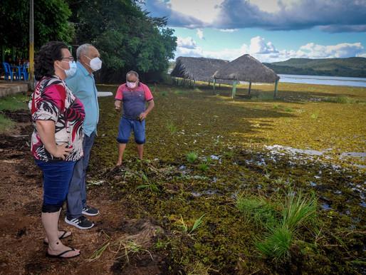 Prefeitura e DNOCS estudam retirada de plantas aquáticas no Caldeirão