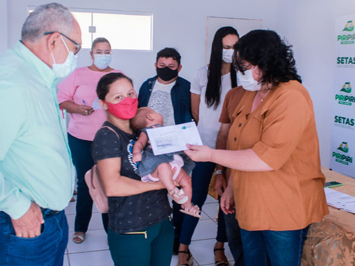 SETAS começa a entrega do Cartão SASC Emergencial para famílias carentes em Piripiri