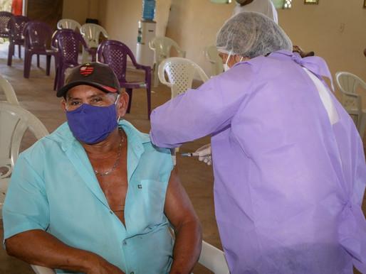 Sesam continua vacinação de quilombolas em Piripiri