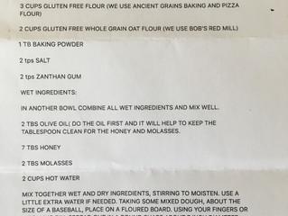 Gluten-free Communion Bread Recipe:  You're Welcome!
