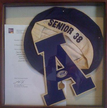 Jack's Senior Cap and Varsity Letter - B