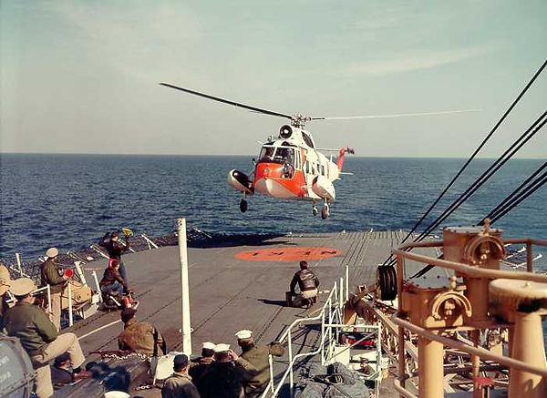 HH52 sets down on USCG ship in 1964 - US