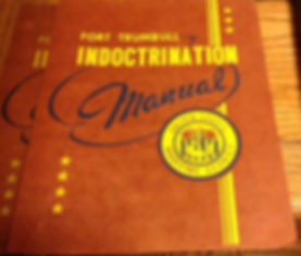 Fort Trumbull Indoctrination Booklet for