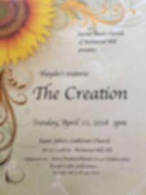04222018 - The Creation - Sacred Music C