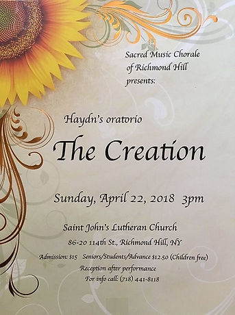 04222018 - The Creation - Sacred Music C