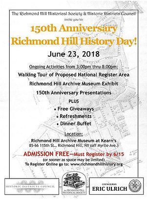 2018 - 150th anniversary - RH History Da
