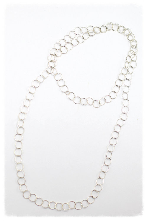 Sterling Silver Long Link Necklace