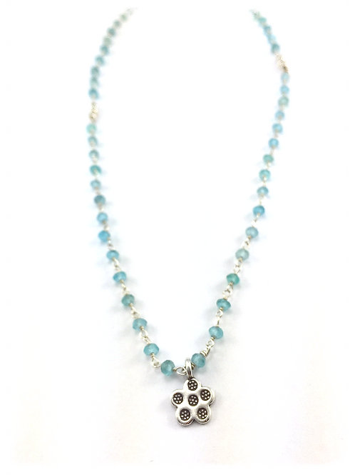 Apatite Rosary with Sterling Daisy Charm