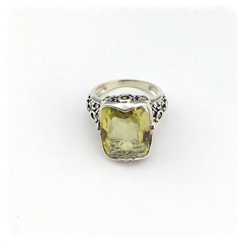 Sterling Silver Lemon Quartz Ring