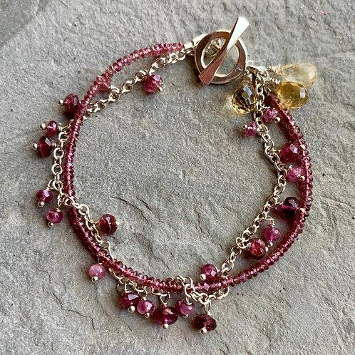 Citrine & Tourmaline Bracelet
