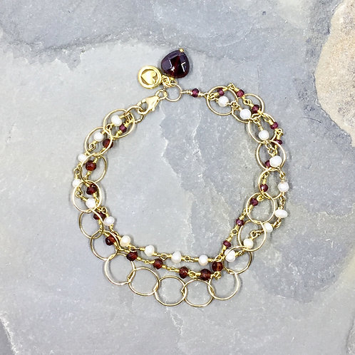 Garnets, Pearls and Golden Circles