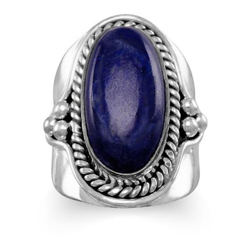 Lapis and Oxidized Silver Ring