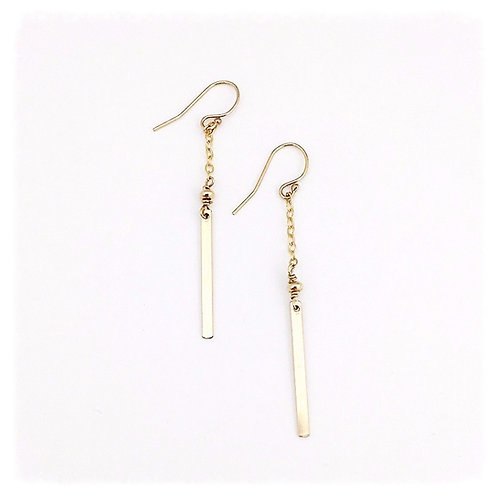 Simple Bar and Chain Earrings