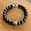 Thumbnail: Matte Onyx and Smokey Quartz Bracelet