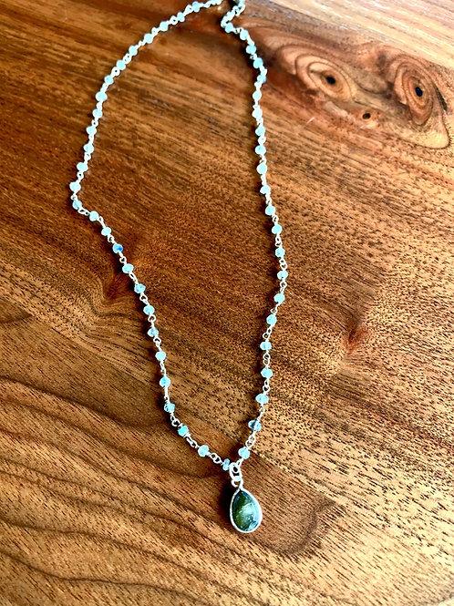 Labradorite Rosary with Labradorite Drop