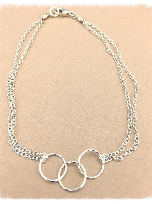 Triple Simple Silver Bracelet