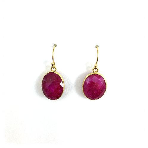 Ruby Oval Drops