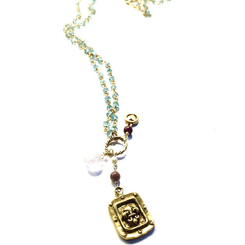 Amelie Rosary in Apatite