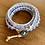 Thumbnail: Tanzanite Triple Leather wrap Bracelet