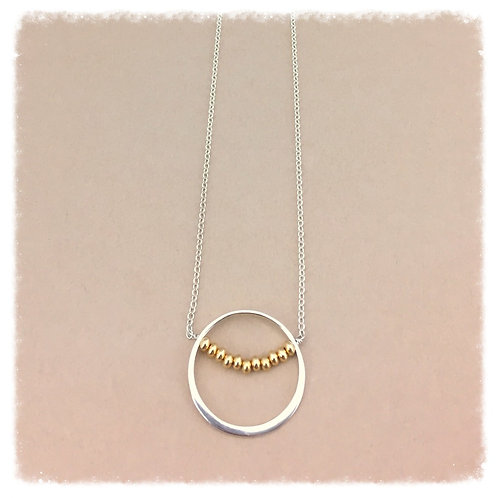 Golden Ring Moon Necklace