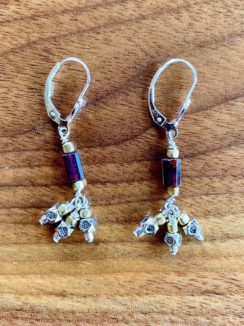 Garnet Deco Earrings