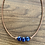 Thumbnail: Triple Lapis Lazuli and Leather Necklace
