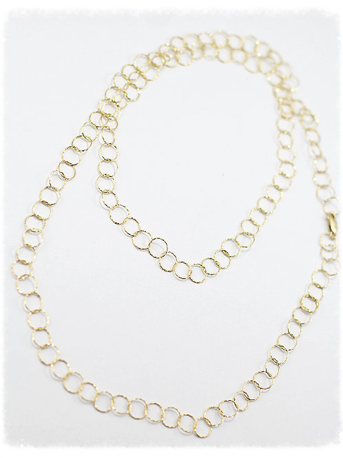 Gold Link Long Necklace