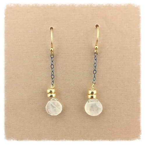 Moonstone and Gold drops
