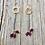 Thumbnail: Trio Garnet Drop Earrings