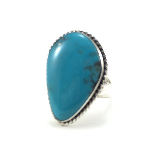 Turquoise Rope Edge Ring