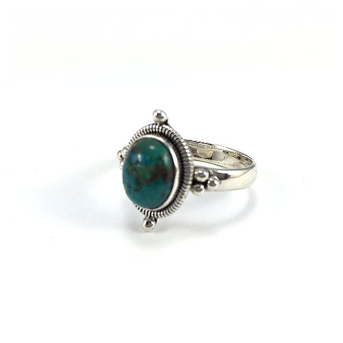 Oval Turquoise Rope Ring