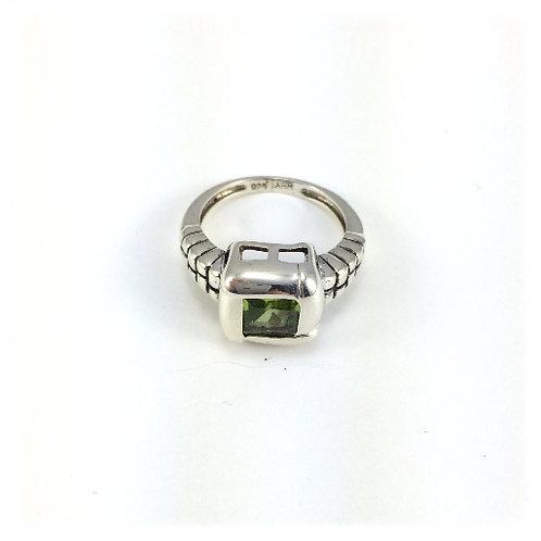 Square Peridot Ring