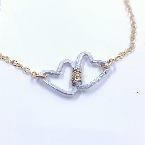 Bound Hearts Necklace