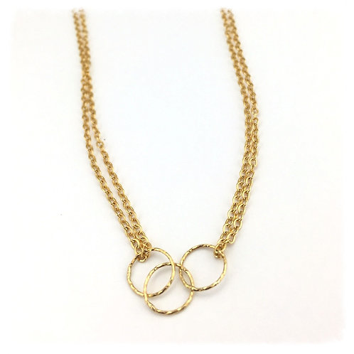 Triple Simple Gold Necklace