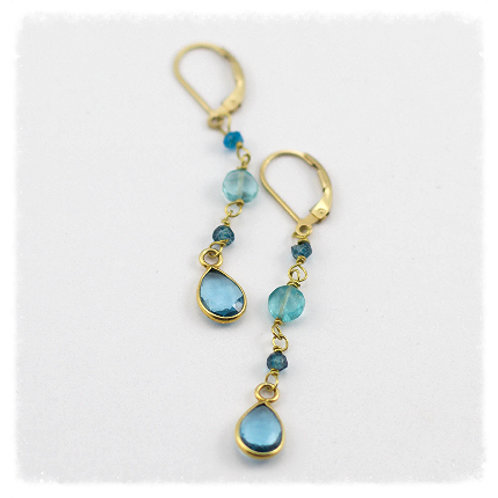 Topaz & Blue Londonite Earrings