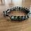 Thumbnail: Dark Green Kyanite Leather Sinngle Wrap