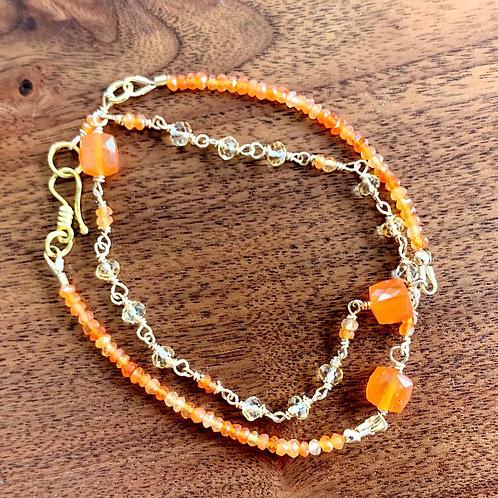 Gypsy Sunset Double Wrap Bracelet