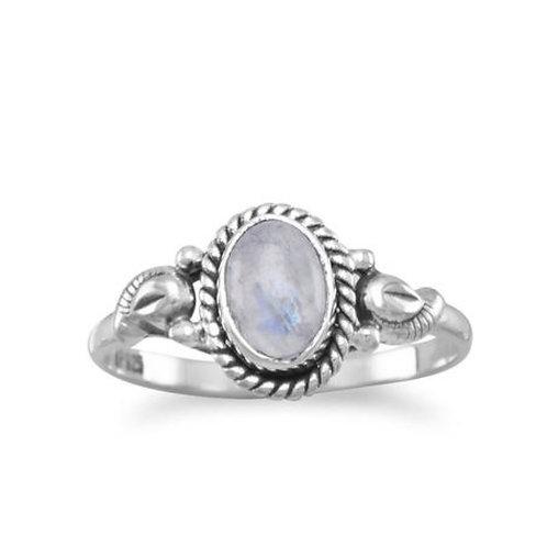 Small Moonstone Ring