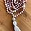 Thumbnail: Rhodonite Stone Mala Necklace
