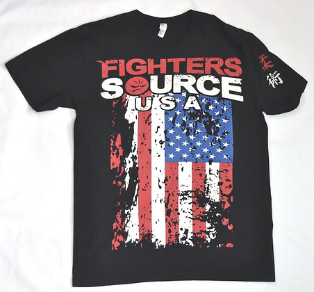 T-Shirt Black, Fighters Source USA