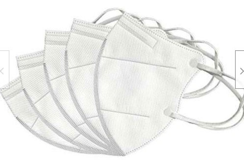 Safety KN95 Disposable Face Mask 5-Pack PM2.5 Breathable 4-Layer Cover