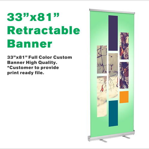 """33""""x81"""" Retractable Banner Stand"""