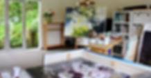 Studio of Jane de France nz artist