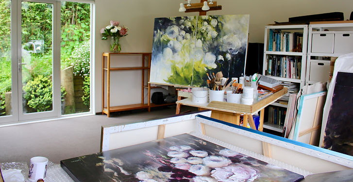 Studio of Jane de France nz artist