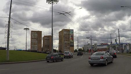 Брандмауэр на главной автомагистрали г.Самара, ул.Московское шоссе, д.187